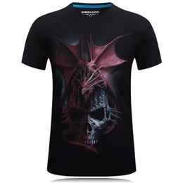 9d53e0c3a Discount dragon skull t shirts - Men Tshirt Short Sleeve Summer 2018 Tops  Casual 3D Print