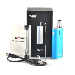 Wholesale Vv Mod Vaporizer - 100%Original Yocan Hive 2.0 Kit Vaporizer Kit Hive2.0 650mAh VV Connecter Battery Box Mod vape pen Wax Thick Oil 2 in 1 fj726