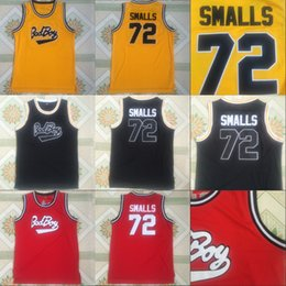 Wholesale Bad Boys - Biggie SMALLS #72 BAD BOY Notorious Big Movie Jersey Mens 100% Stitched Throwback Basketball Jerseys Cheap Yellow Red Black Mix Order