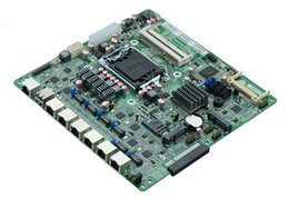 hp socket 478 Rebajas Placa madre embebida industrial del cortafuego B75 LGA 1155 zócalo Placa madre B75SL con 6LAN, 3 * SATAIII, 1 * MSATA, 6 * USB