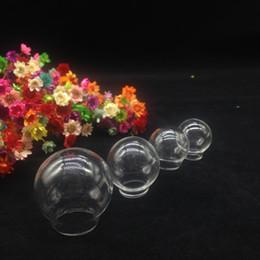 Vial pendant necklace dome on-line-50 pc mix tamanho globo De Vidro transparente descobertas conjunto claro frasco de vidro dome tampa do frasco diy pingente de colar encantos jóias