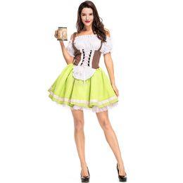 0ff8021e186b8 Hizmetçi Giymek Alman Bira Festivali Giyim Bira Kız Cosplay kostüm Bavyera  Ulusal Geleneksel Elbise Cadılar Bayramı Karnaval kostümleri seksi