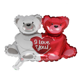 Wholesale Lion Heart - new aluminum foil balloon Print it a boy&girl Foil balloon Heart bear sea lion Helium star ballon Wedding Valentine's days decoration globos