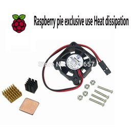 Wholesale Raspberry Cooler - 10 set Raspberry Pi Cooling Kit Micro Cooling Pi Fan+Copper HeatSink Raspberry