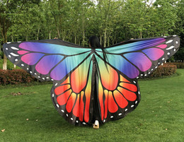 opening wings Promo Codes - Adult dance wings Colorful Butterfly opening wings belly dance isis Split ( no sticks )