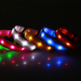 collari per cani usb Sconti Collare di cane di nylon LED collare notte di sicurezza collare di cane lampeggiante collare led luminosi collari di cani piccoli USB ricaricabile XS / S / M / L taglia