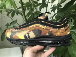 Wholesale france country - Airs Cushion 97 OG Country QS Camo Japan Italy France Germany UK Men Running Shoes Camouflage Olive Green Sports Sneakers Size 40-46