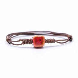 Wholesale making porcelain beads - DIY smal ceramic beads Bracelets hand-made sample bracelet for women #1240