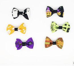 2019 hund gummibänder Halloween Pet Bowknot Gummiband Hund Haarschmuck Halloween Hundesalon Liefert Ghost Spider Dog Headwear Kostüme günstig hund gummibänder