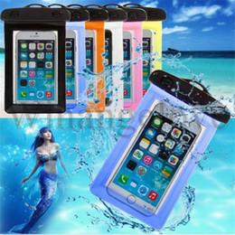 Étui étanche pvc de plongée en Ligne-Pochette de protection universelle pour téléphone avec étui de protection en PVC pour sacs de boussole pour la plongée sous-marine pour téléphones intelligents jusqu'à 5,8 pouces