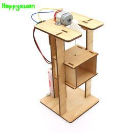 Canada Happyxuan Cool DIY Électrique Kit Ascenseur Modèle D'ascenseur Enfants Science Jouets Éducatifs Kits D'expérimentation pour Jeux De Garçons Assemblage Cadeaux De Nouveauté Offre