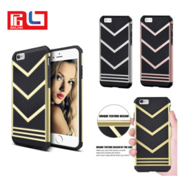 Wholesale High Fashion Iphone Cases - High Quality Phone Case Cover Fashion Luxury V Design 2 in 1 Protective Armor Case Cover Casual Black For Iphone 8 7 7plus