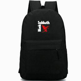 Deutschland Black Sabbath Rucksack Bloody Song Daypack Fächer Schultasche Rock Band Schultasche Outdoor Rucksack Sportübungs-Tagesrucksack Versorgung