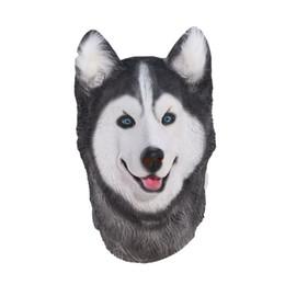 Nouveautés du carnaval en Ligne-Hanzi_masks Halloween Siberian Husky Dog Masque En Latex Nouveauté Costume De Fête Déguisement Animal Masques