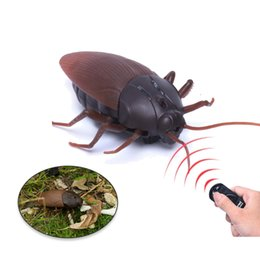 toy bugs insects Coupons - RC Cockroach Toy Children Remote Controlled Insect Toys Tricky Scary Animals Infrared Bugs Toys Best Gifts for Kids