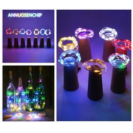 luces de neón blancas rollo Rebajas Año Nuevo decoraciones 1M 1.5M 2M 20LED Lámpara de cobre corcho Serie de tecnología de vidrio decorativo de lámparas