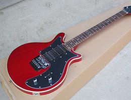 Guitares insolites en Ligne-Livraison Gratuite Usine Custom inhabituelle forme rouge guitare électrique avec Pickguard noir, Floyd Rose Chrome Hardwares guitra guitars