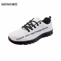 Мужская обувь онлайн-INSTANTARTS Customized Your Own Logo/Photo/Image Pattern Men Flats Shoes Fashion  Diy Your Sneakers Black Bottom Footwear