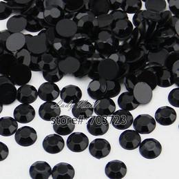 Vente en gros - 1000pcs 3mm SS12 Glitter Nail Art Strass Cristal Non Hotfix Flatback Nail Art Décoration Strass Perles Noir N02 ? partir de fabricateur