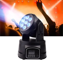 mini led moving head beam light Promo Codes - 2Pcs Carton Zita Lighting LED Mini Moving Head Lights Beam Spot Wash Stage Lighting Mixing RGBW DMX512 7X10W Disco DJ Christmas Party Effect