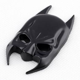 Wholesale batman car stickers decals - Universal Car Accessories Trim 3D Sticker Decal Batman Mask Emblem Badge Black