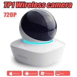 Ptz cameras home en Ligne-TP1 réseau sans fil bébé moniteur PTZ 720P multi-fonctionnel alarme surveillance 360 degrés sécurité à la maison WIFI caméra IP