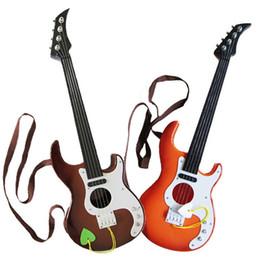 Wholesale Toys Guitars - Children 4 Strings Instrument Guitar Kid Musical Educational Toy Guitars Multi Color New Arrive 14 9tf C R