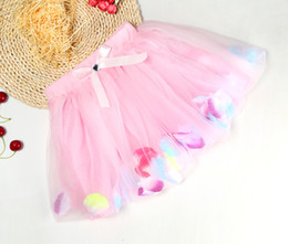 new fashion dress blouse 2018 - Kids Clothes Baby Girls Ball Gown dress 2018 New Promotion Pink Love Floral Printing Lace Princess Dresses Toddler Baby Clothing