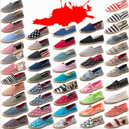 female lazy shoes Coupons - Spring and Autumn Leisure Straw shoes Female male Hemp rope fisherman's shoes canvas Lazy Shoes T3I0310