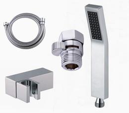 Wholesale Valve Hand - hand held shower sets brass hand shower +1.5M stainless steel hose +Shut Off Valve + abs holder 03-197