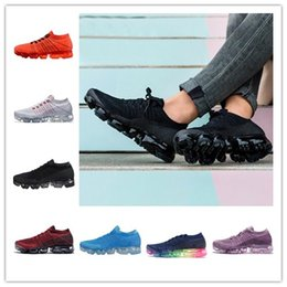 Wholesale Black Save - 2018 Top Quality Big SAVE Vapormax Women Men Running Shoes Sports Shoes Vapor Black White Rainbow Walking Hiking Outdoor Athletic Sneakers
