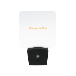 2019 nacht lichter für wände Mini-RGB-LED-optische Nachtlampe Eingebauter Lichtsensor US-Wand Plug7 RGB Lichter Blank Acrylplatte Großhandel günstig nacht lichter für wände