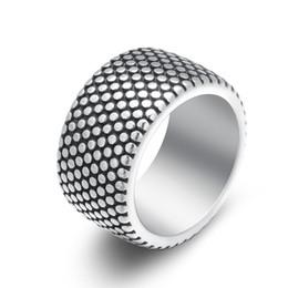 Neue 13mm Antik Silber Stil 316L Edelstahl Ring Herren Reifen Ring Paar Schmuck Punk Ringe Für Männer Hochzeit Band Schmuck R008 von Fabrikanten