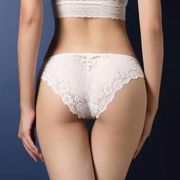 Wholesale Hot Underwear For Women - Elliehouse Plus size Hot Underwear Women Panties Briefs for Female Underpant Sexy Lingerie Lace Cotton string big size hot sale