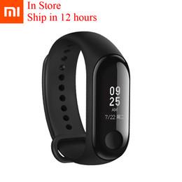 memorizzare i braccialetti Sconti In Store Original Xiaomi Mi Band 3 Bracciale fitness 50m Impermeabile MiBand 3 Smart Wristband Messaggio OLED Tempo di battito cardiaco