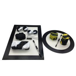 2019 mod mecânico de varejo Conjunto de Kit de Silicone Com Retângulo E Rodada Silicone Dab Mat Pad 5 / 7ml 22 / 25ml 6 + 1 Recipientes 26ml Barril Inoxidável Titanium Dabber Ferramenta