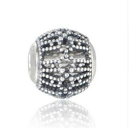"Wholesale Crimps For Jewelry - Small hole bead 925 Sterling Silver ""Curiosity"" Charm beads Jewelry Suitable for Pandora Essence Charms Bracelets"