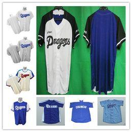 camisas feitas sob encomenda livres Desconto COSTUME XS-5XL Chunichi Dragões Camisola de Beisebol Camisa NOVA Ponto Costurado Qualquer Nome Ou Número Frete Grátis