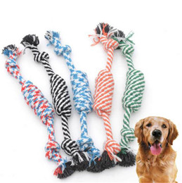 funny bones cartoon Coupons - Pets dogs pet supplies Pet Dog Puppy Cotton Chew Knot Toy Durable Braided Bone Rope Funny Tool