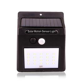 Wholesale Solar Lights Outdoor Gutter - 20 LED Solar Power Spot Light Motion Sensor Outdoor Garden Wall Light Security Lamp Gutter DHL FEDEX FREE