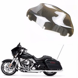 Wholesale Tri Glides - 9'' Wave Windshield Windscreen For Harley Electra Street Tri Glide Electra Glide Low CVO Touring Bike 2014-2016