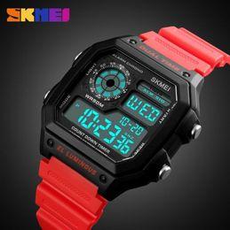 Wholesale german brand watches - SKMEI Sports Watch Men Top Brand Luxury Famous LED Digital Watches Male Clocks Men's Watch Relojes Deportivos Herren Uhren
