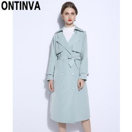 af67172832 2018 Fall Winter Fashion Long Trench Coat Plus Size 5XL Double Breasted Long  Sleeve with Waist Belt Pocket Duster Coats Outwear