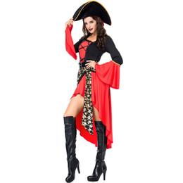 Sexy Traje Do Pirata Das Mulheres Adulto Gothic Halloween Carnaval Trajes Fantasia Fantasia Vestido Extravagante cheap fancy dress pirate woman costume de Fornecedores de fantasia, vestido, pirata, mulher, traje