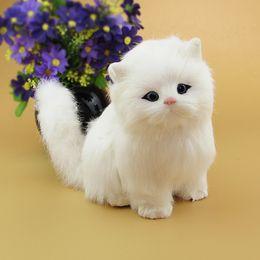Robôs do gato on-line-Ano novo Brinquedos de Natal Para As Crianças Presente Eletrônico pet gato elétrico Brinquedos Robô Interativo Gato Pode Meow meow brinquedos de pelúcia