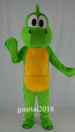 Wholesale Mascot Funny - New Adult cute New Design Funny Big Green Dragon Mascot Costume Fancy Dress Hot Sale Party costume Free Ship