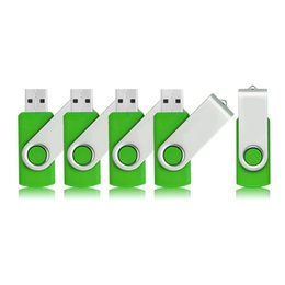 Argentina Verde 5 UNIDS / LOTE 1G 2G 4G 8G 16G 32G 64G Giratorio Memorias USB Flash Flash Pen Drive Almacenamiento de Memoria de Alta Velocidad para PC Portátil Macbook Suministro