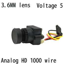 Wholesale Aerial Camera Lens - FPV Mini Digital Video Camera FPV-1000TVL 1000 TVL Line 3.6mm NTSC PAL w  Camera lens Seat for Aerial Photography N P Pattern