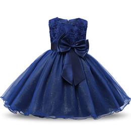 Wholesale Abito da ragazza di fiore per spettacolo di nozze Costume da comunione per bambini formale per ragazza Little Princess Junior Child Girl Bridesmaid
