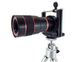 Handy-stativadapter online-8x18 Universal Mini Optisches Handy Zoom Teleskop Kameraobjektiv Mount Adapter Handy Clip Halter und Stative Monocular
